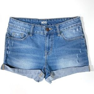 BDG by UO | Shortie Mid Rise Cuffed Jean Shorts